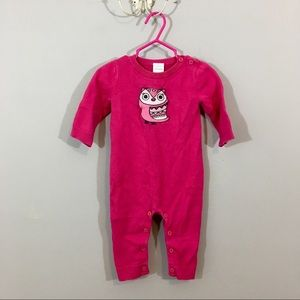 🔴 5 for $25 Gymboree Pink Owl Cotton One-piece
